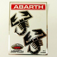THREE HUNDRED ABARTH アルミフットレスト THREEHUNDRED ver