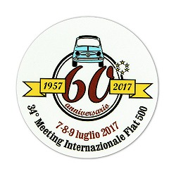 Meeting Internazionale Fiat 500 ステッカー【60周年】